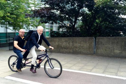 David & Adrian ride a tandem